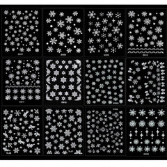 Christmas Snowflakes Design 3D Nail Art Stickers Decals 12 Sheet - Oh Yours Fashion - 3