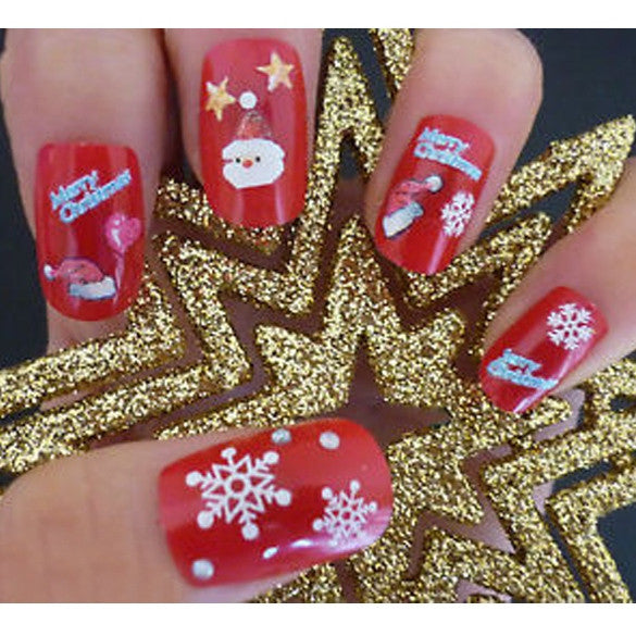 Christmas Snowflakes Design 3D Nail Art Stickers Decals 12 Sheet - Oh Yours Fashion - 1