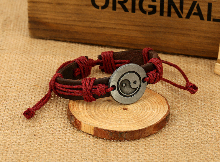Unique Eight Diagrams Leather Bracelet - Oh Yours Fashion - 6