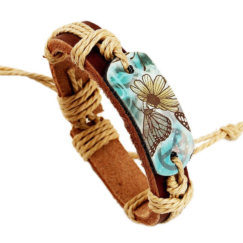 Hot Style Pyrograph Leather Bracelet - Oh Yours Fashion - 1