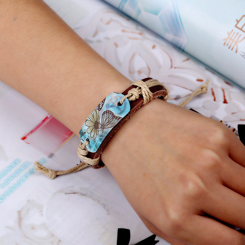 Hot Style Pyrograph Leather Bracelet - Oh Yours Fashion - 3