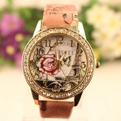 Retro Rosy Print Lady's Watch - Oh Yours Fashion - 1
