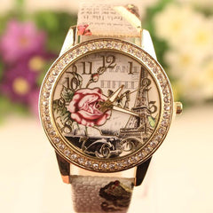 Retro Rosy Print Lady's Watch - Oh Yours Fashion - 4