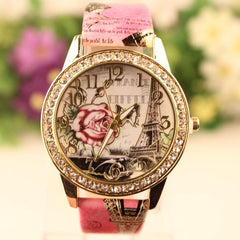 Retro Rosy Print Lady's Watch - Oh Yours Fashion - 2