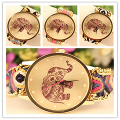 Wool Knitting Strap Elephant Print Watch - Oh Yours Fashion - 5