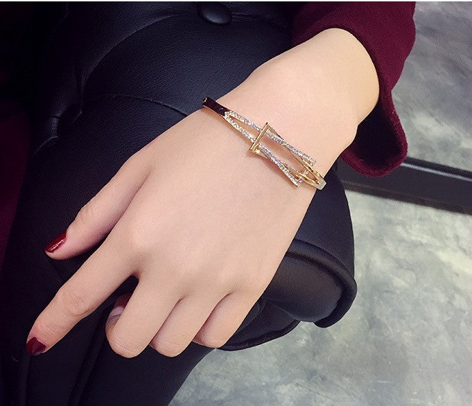 Simple Fashion Crystal Geometric Shape Women's Bracelet - Oh Yours Fashion - 3