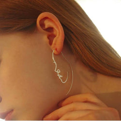 Creative abstract face contour Earrings