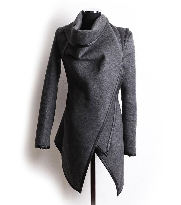 Long Irregular Thickening Woolen Overcoat - Meet Yours Fashion - 4