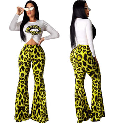 Long Sleeves T-shirts High Waist SKinny Pants Set