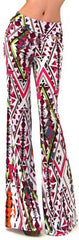 Color Geometry Print High Waist Wide Leg Pants - Oh Yours Fashion - 2