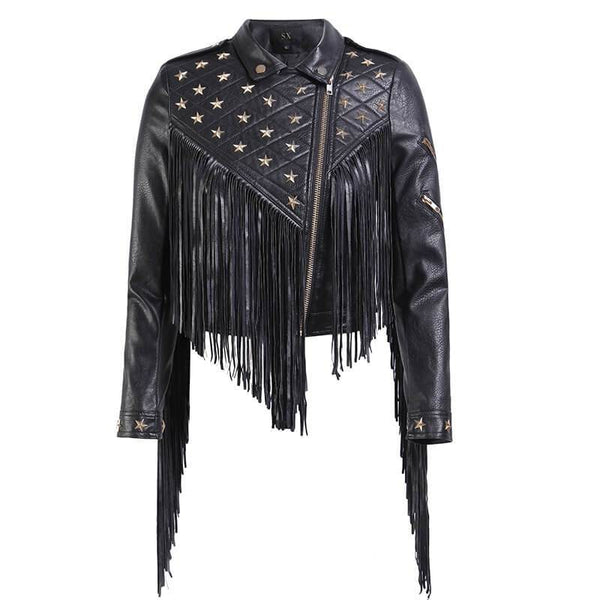 Stars Rivet Studded Moto Jacket