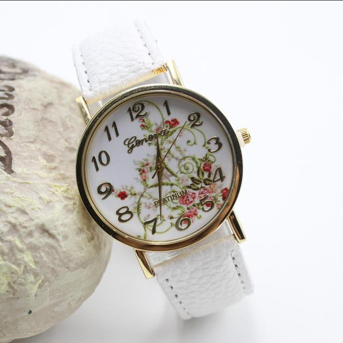 Classic Flower Print Leather Watch - Oh Yours Fashion - 2