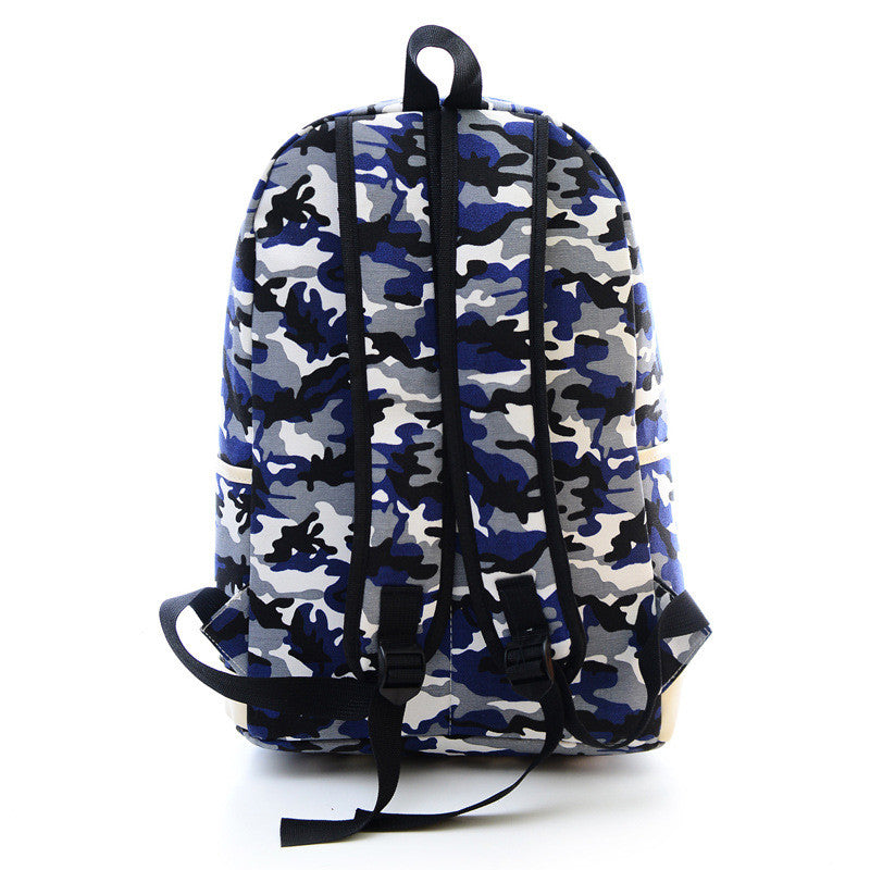 Fashion Canvas Camouflage Mustache Cartoon School Backpack Bag - Oh Yours Fashion - 5