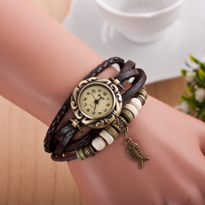 Retro Style Fish Bone Watch - Oh Yours Fashion - 2