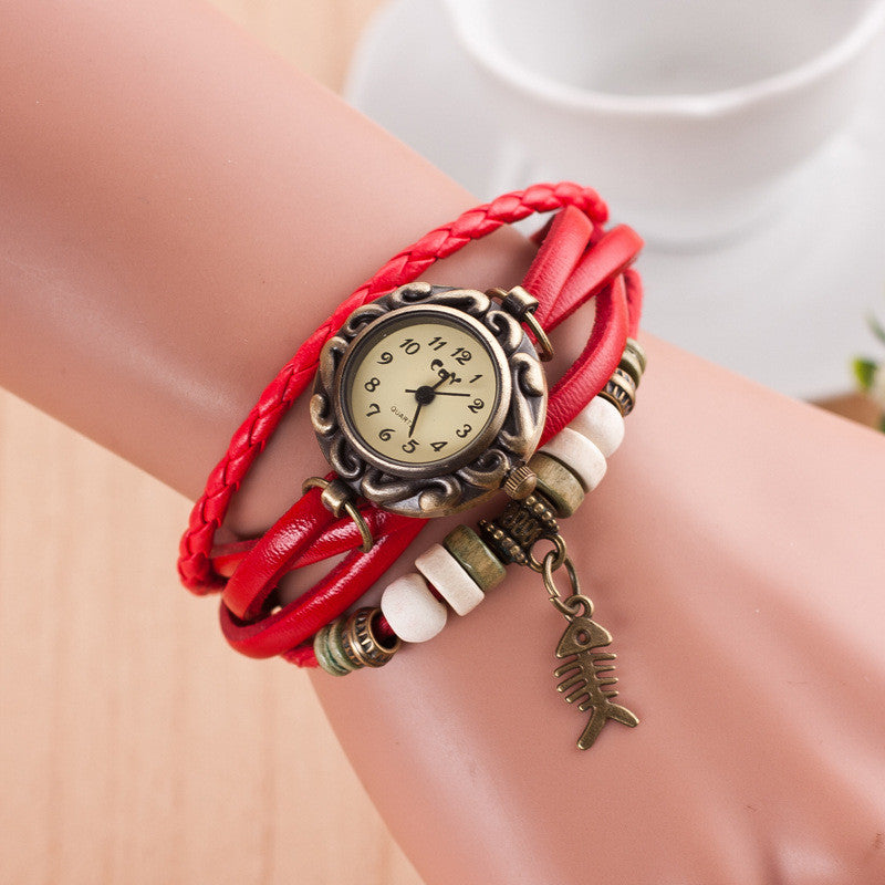 Retro Style Fish Bone Watch - Oh Yours Fashion - 3