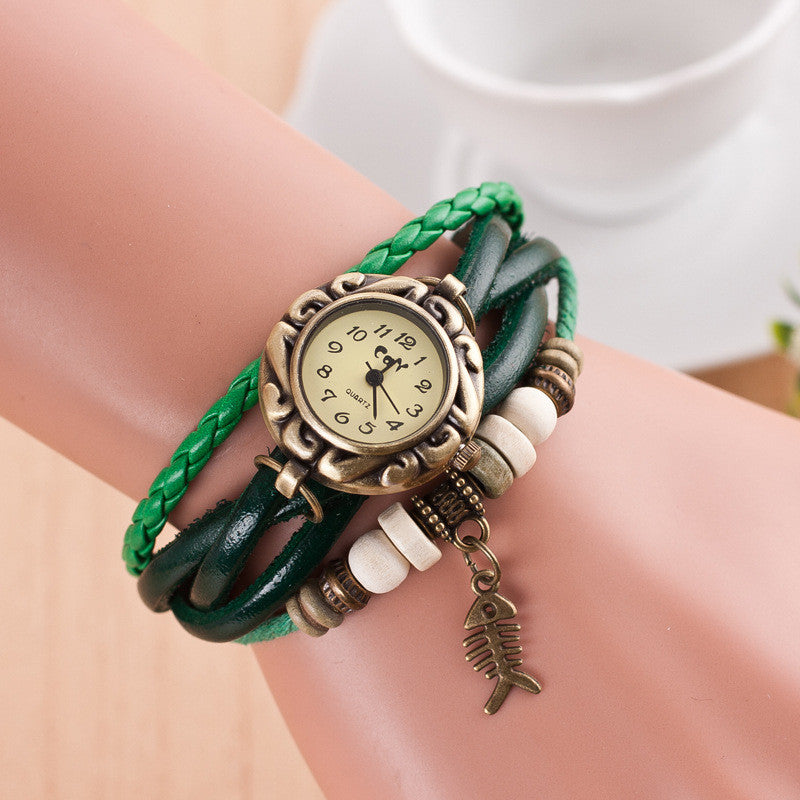 Retro Style Fish Bone Watch - Oh Yours Fashion - 4