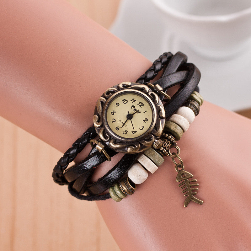 Retro Style Fish Bone Watch - Oh Yours Fashion - 5