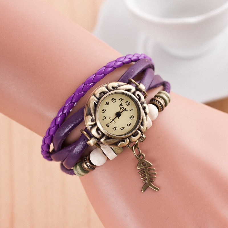Retro Style Fish Bone Watch - Oh Yours Fashion - 6