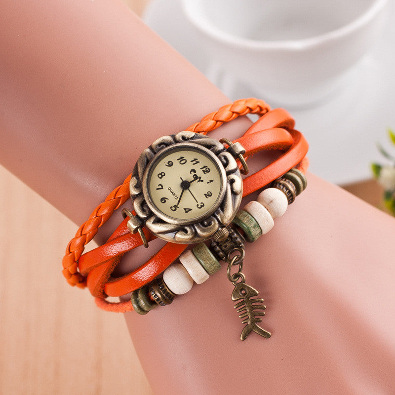 Retro Style Fish Bone Watch - Oh Yours Fashion - 7
