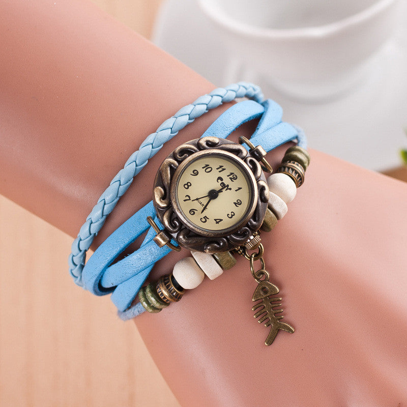 Retro Style Fish Bone Watch - Oh Yours Fashion - 8