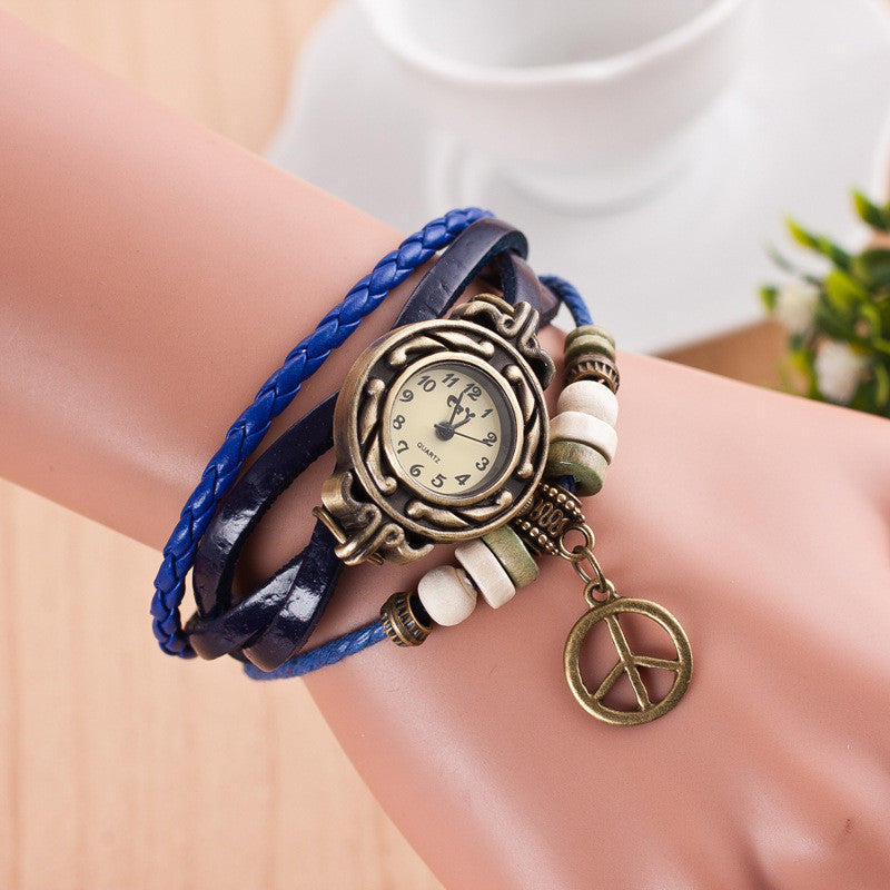 Peace Mark Multilayer Bracelet Watch - Oh Yours Fashion - 4