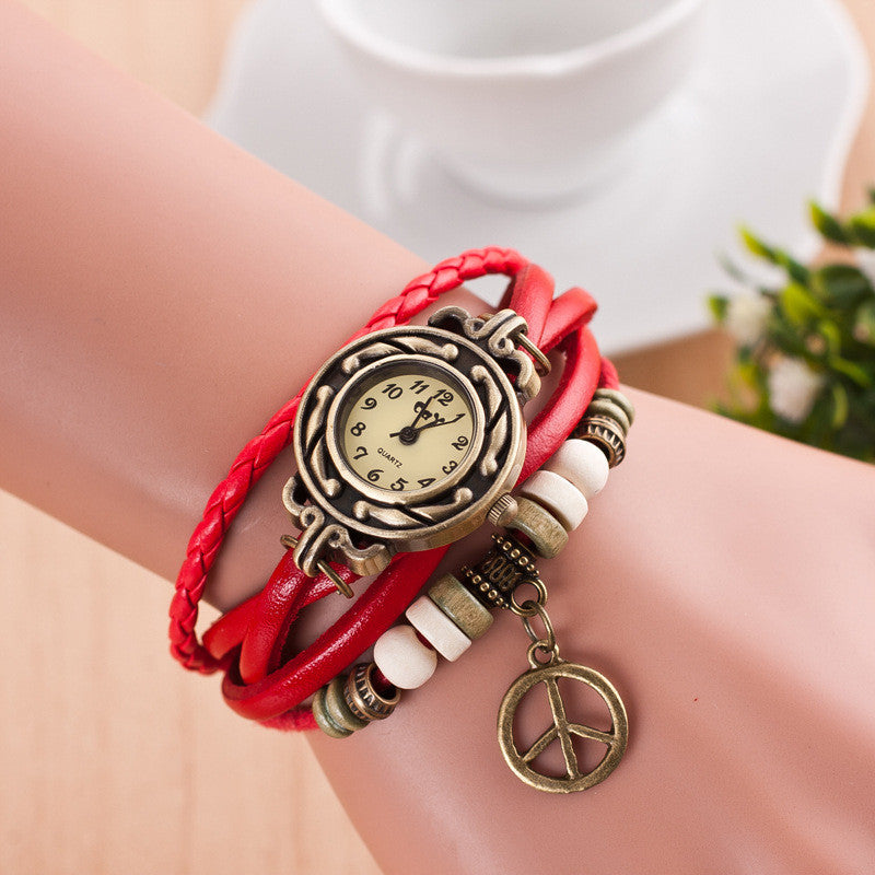 Peace Mark Multilayer Bracelet Watch - Oh Yours Fashion - 6