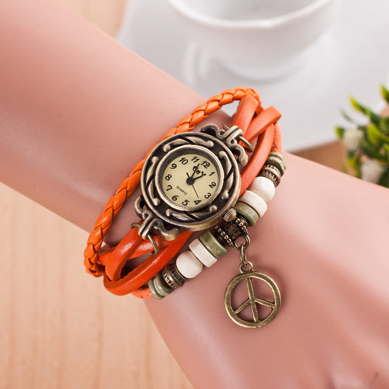 Peace Mark Multilayer Bracelet Watch - Oh Yours Fashion - 7