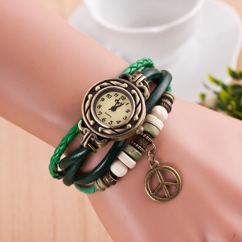Peace Mark Multilayer Bracelet Watch - Oh Yours Fashion - 3