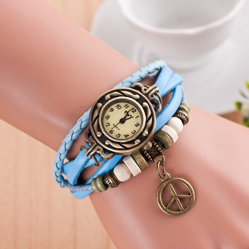 Peace Mark Multilayer Bracelet Watch - Oh Yours Fashion - 8