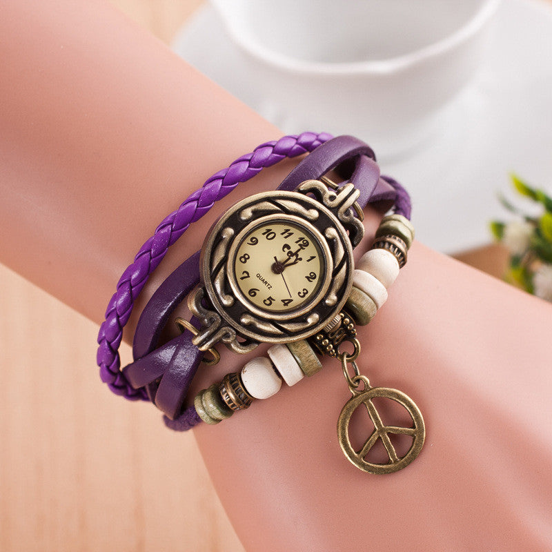 Peace Mark Multilayer Bracelet Watch - Oh Yours Fashion - 2