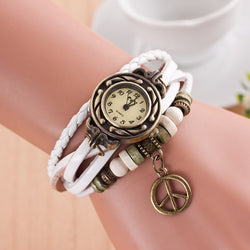 Peace Mark Multilayer Bracelet Watch - Oh Yours Fashion - 1