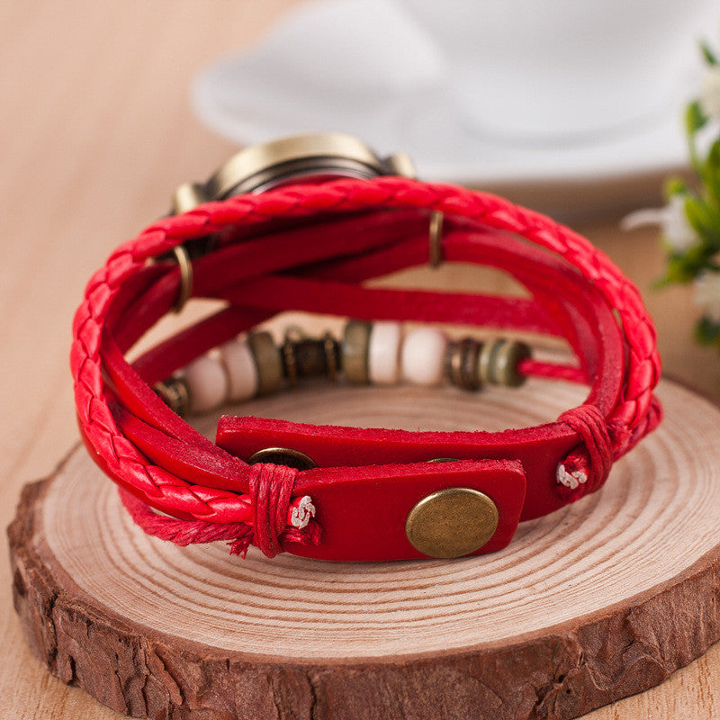 Peace Mark Multilayer Bracelet Watch - Oh Yours Fashion - 9