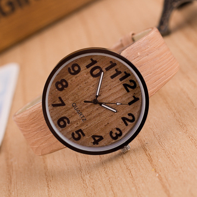 Personality Wood Grain Print Popular Watch - Oh Yours Fashion - 3