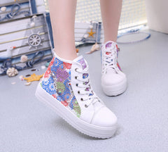 Sweet Sponge Thick Bottom Hollow Lace Sneakers - Oh Yours Fashion - 5