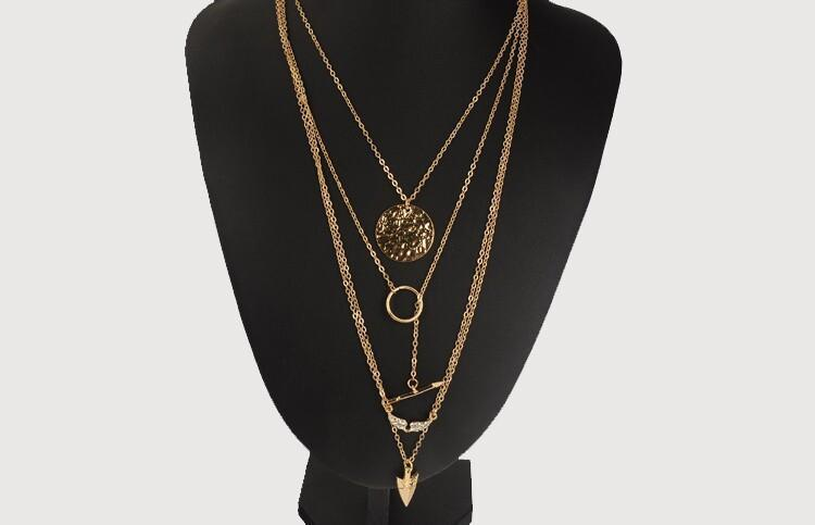 Irregular Triangle Pendant Layered Necklace - MeetYoursFashion - 2