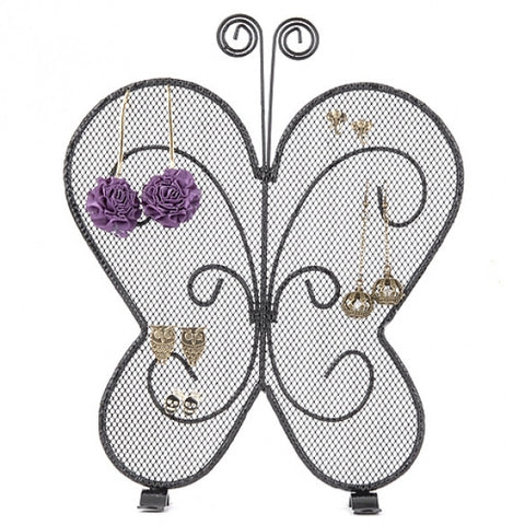 New Butterfly Shape Earring Jewelry Show Ear Stud Display Rack Stand Organizer Holder