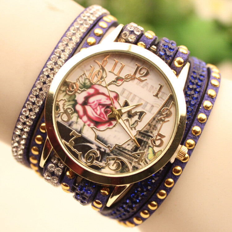 Flower Car Pattern Lady's Watch - Oh Yours Fashion - 4