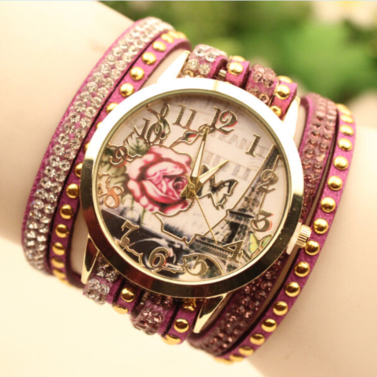 Flower Car Pattern Lady's Watch - Oh Yours Fashion - 3