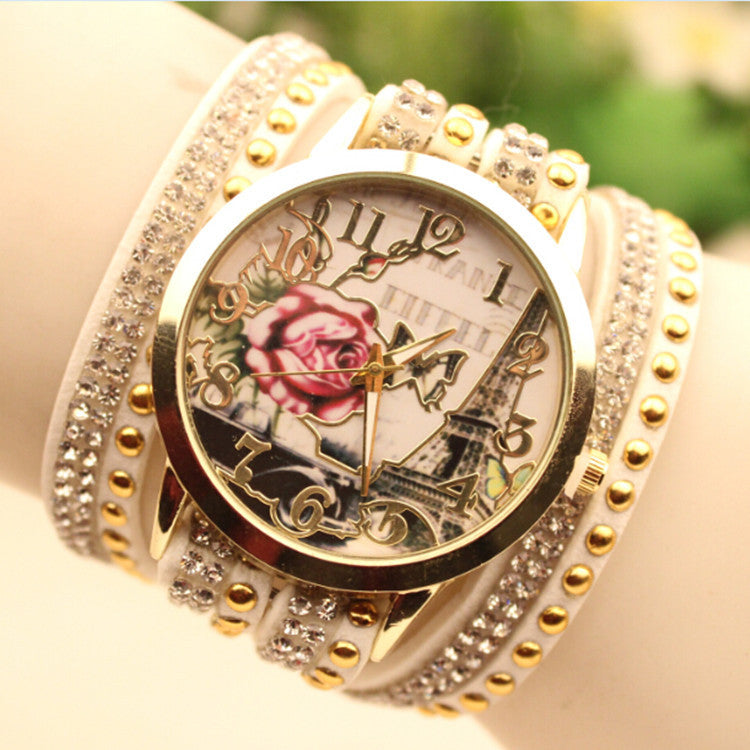 Flower Car Pattern Lady's Watch - Oh Yours Fashion - 1