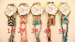 Icecream Print Handmade Woven Bracelet Watch - Oh Yours Fashion - 4
