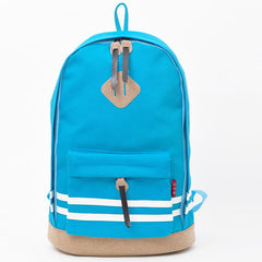 Contrast Color Stripe Canvas Backpack Bag - Oh Yours Fashion - 6