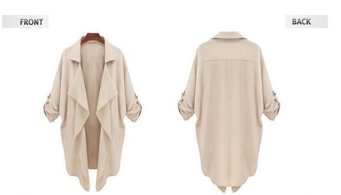 Plus Size Autumn Long Sleeves Chiffon Coat - Meet Yours Fashion - 5