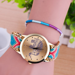 Hand-woven Elephant Rope Bracelet Watch - Oh Yours Fashion - 1