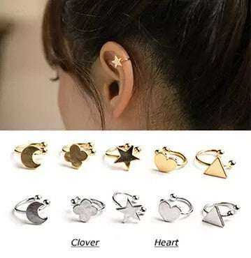 Fashion Cute Star Heart Ear Bones Clip - Oh Yours Fashion - 1