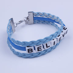 Believe Letter String Woven Bracelet - Oh Yours Fashion - 2
