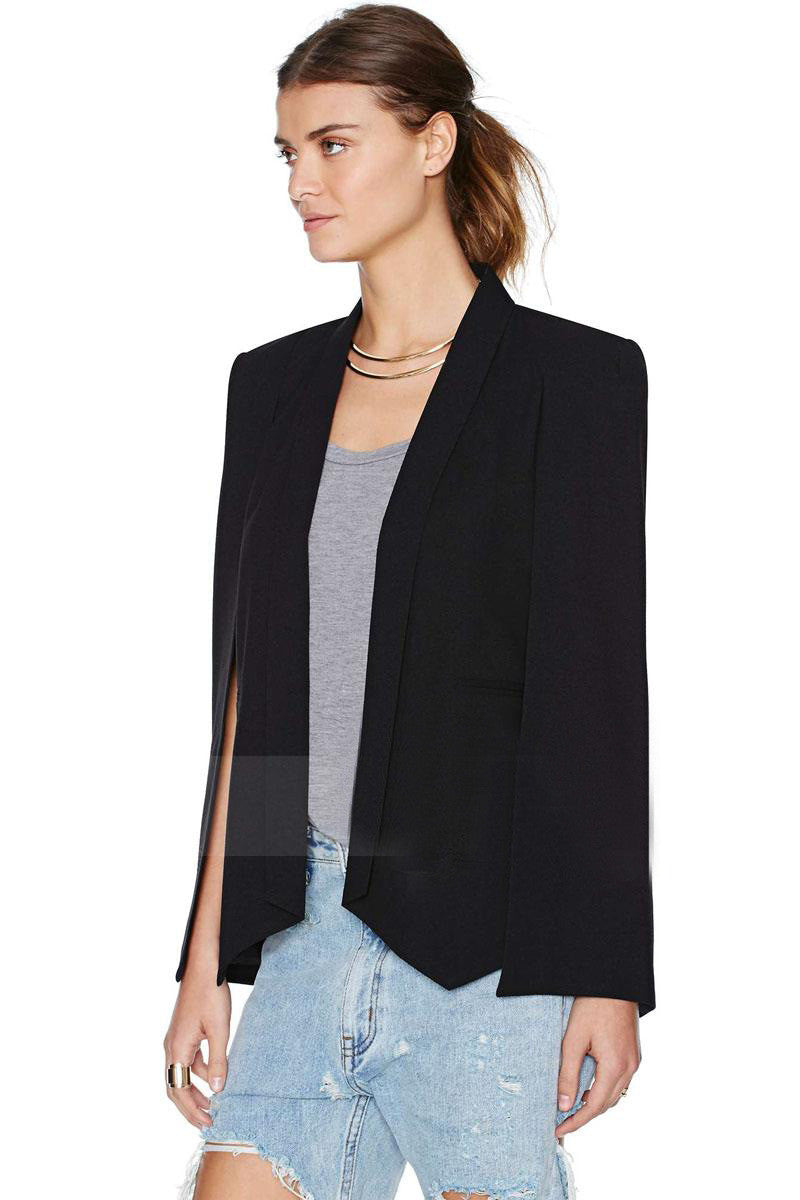 Split Sleeves Cape Suit Blazer Coat - Oh Yours Fashion - 1