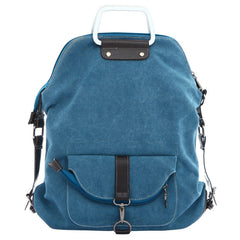 Foldable Pure Color Leather Hardware Canvas Backpack - Oh Yours Fashion - 3