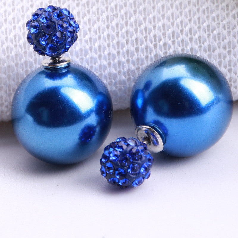 Charming Crystal Ball Pearl Earring - Oh Yours Fashion - 4