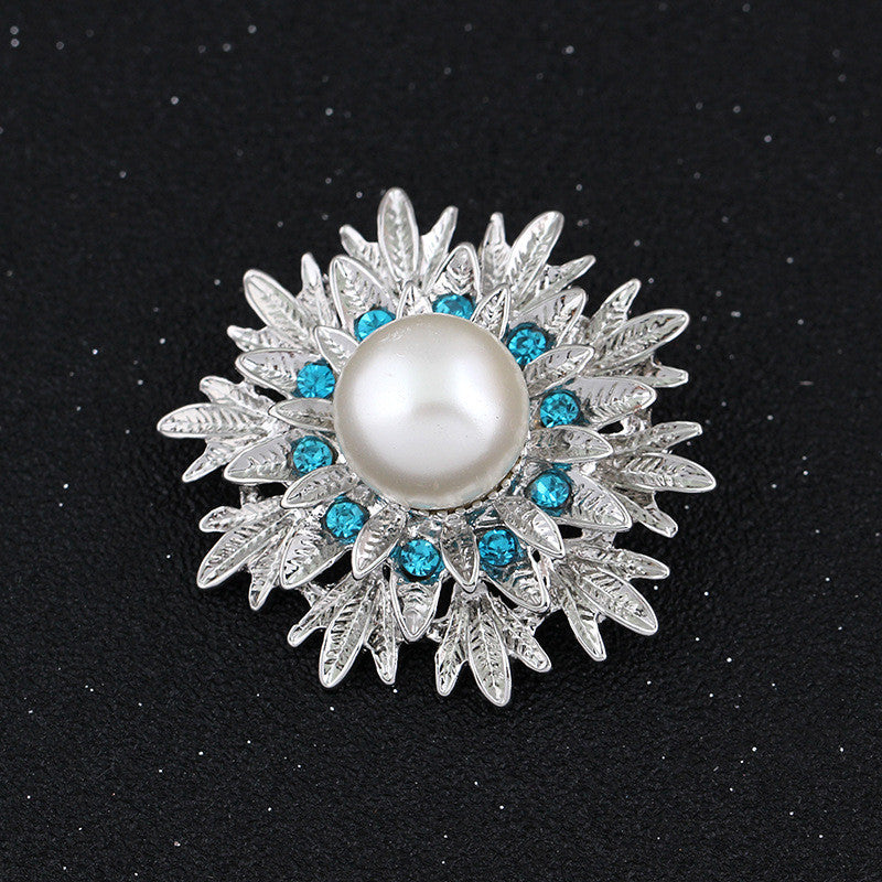 Beautiful Alloy Pearl Flower Brooch - Oh Yours Fashion - 1