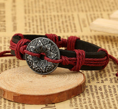 Alloy Flower Decorate Woven Bracelet - Oh Yours Fashion - 3